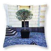 A Royal Tree Throw Pillow