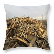 A Rubbish Pile Throw Pillow