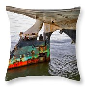 A Rudder Of Many Colors Throw Pillow
