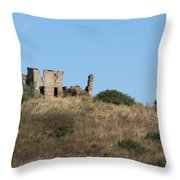 A Ruin In The Hills Of Tuscany Throw Pillow