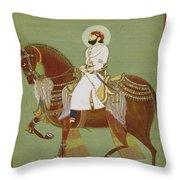 A Ruler On Horseback Throw Pillow