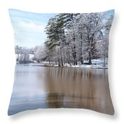 A Rural Lake Throw Pillow