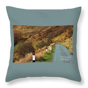 A Rural Vision From Wales Throw Pillow