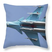 A Russian Air Force Su-34 In Flight Throw Pillow