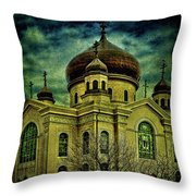 A Russian In Brooklyn Throw Pillow