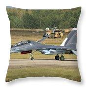 A Russian Navy Su-30sm Aircraft Throw Pillow