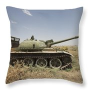 A Russian T-62 Main Battle Tank Rests Throw Pillow