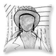 A Sad Woman Throw Pillow