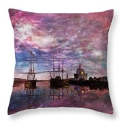 A Safe Anchorage Throw Pillow
