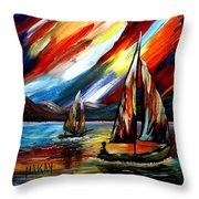 A Sailing Prism Throw Pillow