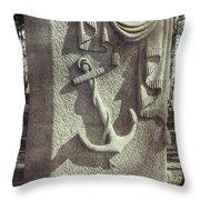 A Sailor's Marker Throw Pillow