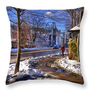 A Sandpoint Winter Throw Pillow