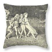 A Scarecrow Throw Pillow