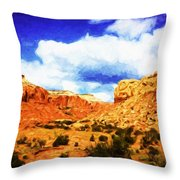 A Scene From Abiquiu Throw Pillow