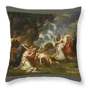 A Scene From Classical Mythology Throw Pillow