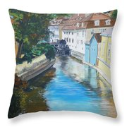 A Scene In Prague 2 Throw Pillow