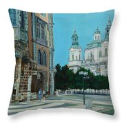 A Scene In Prague Throw Pillow