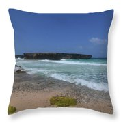 A Scenic Look At Boca Keto On The Island Of Aruba Throw Pillow