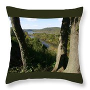 A Scenic View Of The Potomac River Throw Pillow