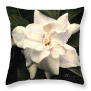 A Scent Of Gardenia Throw Pillow