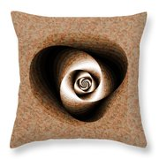 a Sculpt Rose Throw Pillow
