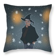 A Sea Witch's Blessed Yule Throw Pillow