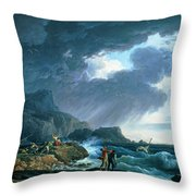 A Seastorm Throw Pillow