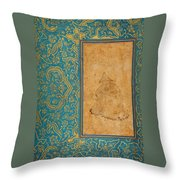 A Seated Dervish In A Landscape Throw Pillow
