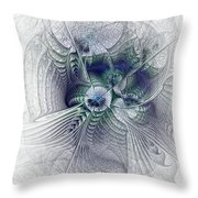 A Secret Sky - Fractal Art Throw Pillow