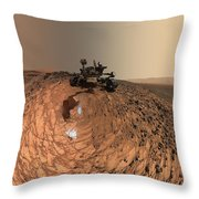 A Selfie On Mars Throw Pillow