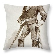 A Sergeant Of The Us Cavalry Throw Pillow