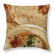 A Serving Of Humus Throw Pillow