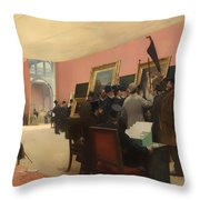 A Session Of The Painting Jury Throw Pillow