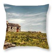 A Shack On The Aran Islands Throw Pillow