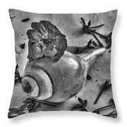 A Shell For Music Throw Pillow
