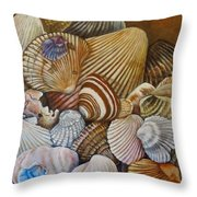 A Shell Of A Good Time Throw Pillow