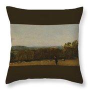 A Shepherd In A Landscape Throw Pillow