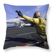 A Shooter Signals The Launch Of An Throw Pillow by Stocktrek Images