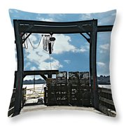 A Short Pier In Portsmouth Nh Throw Pillow
