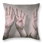 A Show Of Hands Day 197 Throw Pillow