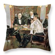 A Showdown Throw Pillow by Albert Beck Wenzell