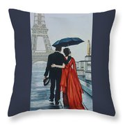 A Shower At The Trocadero Throw Pillow