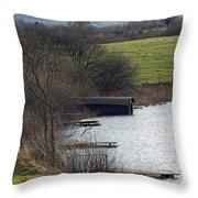 A Shropshire Mere Throw Pillow