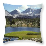 A Sierra Mountain Lake In Summer Throw Pillow