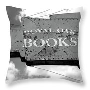 A Sign Of The Times Bw Throw Pillow