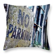 A Sign Of Time Gone By Throw Pillow