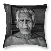 A Silent Conversation Bw Throw Pillow