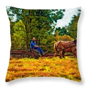 A Simpler Time Impasto Throw Pillow
