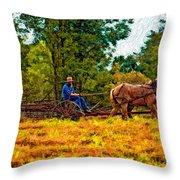 A Simpler Time Impasto Throw Pillow