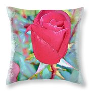 A Single Rose In October Throw Pillow